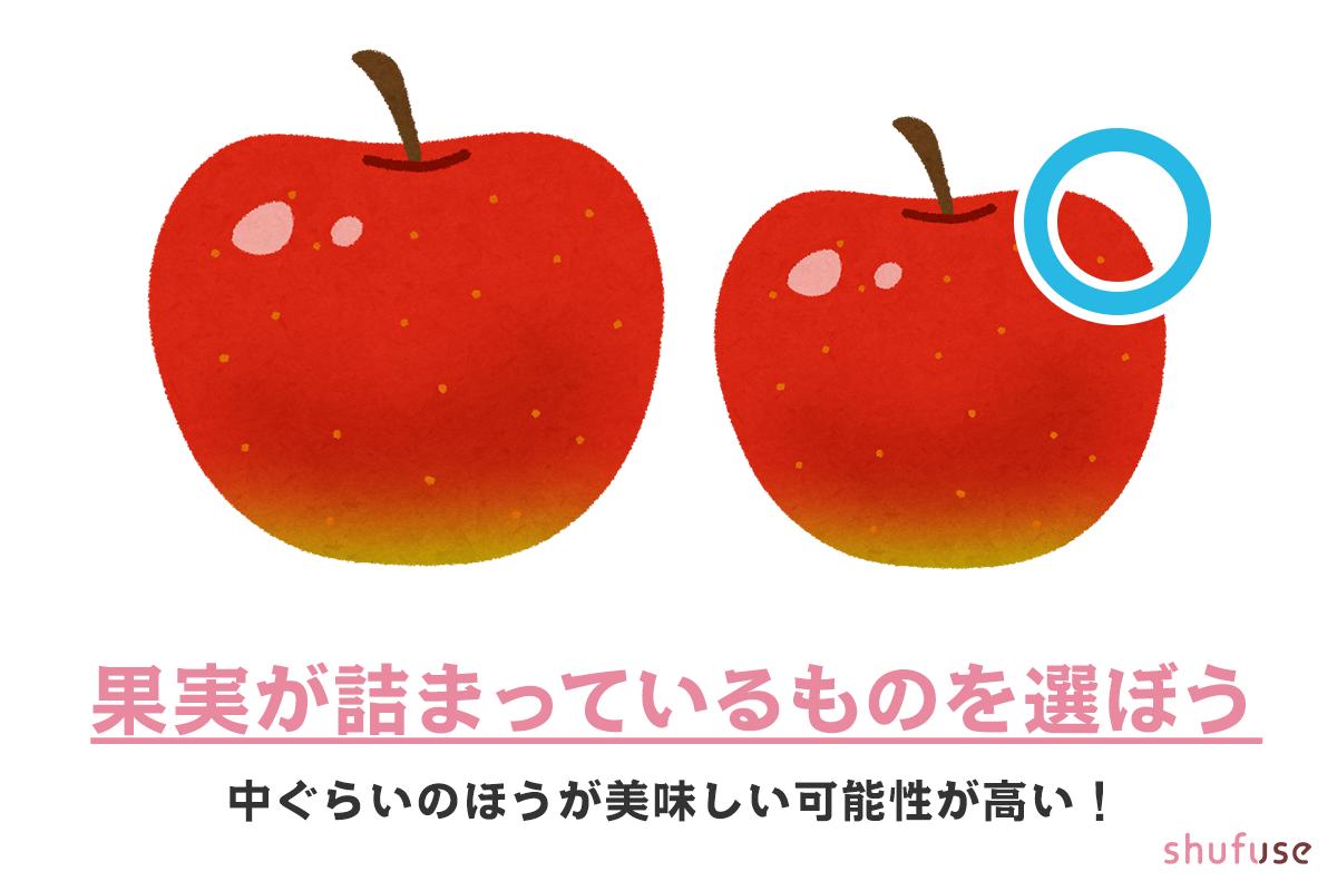 リンゴは中くらいのものを選ぼう