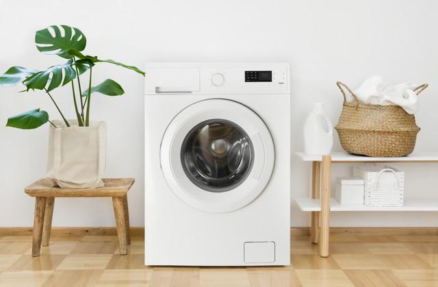 ランドリールームのインテリアの洗濯機