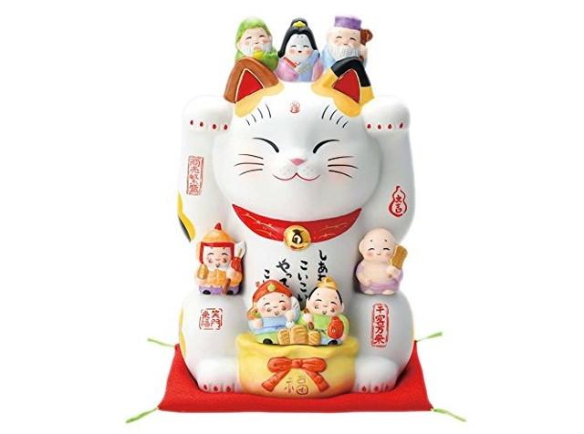 彩絵七福神招き猫(8号) 7601