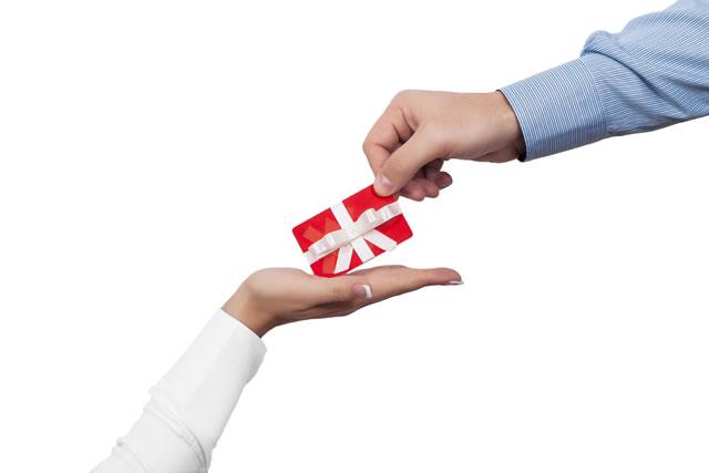 ギフトカードをプレゼント