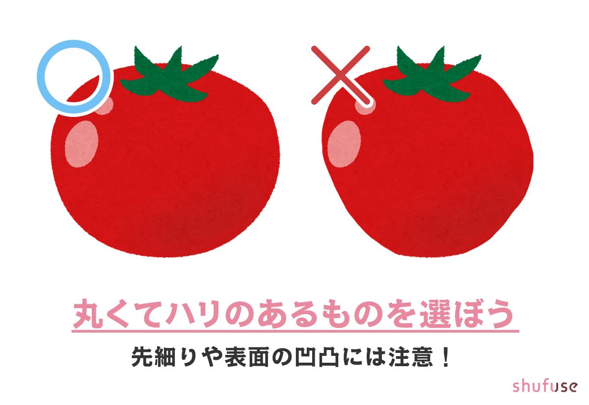 形が良いトマトを選ぼう