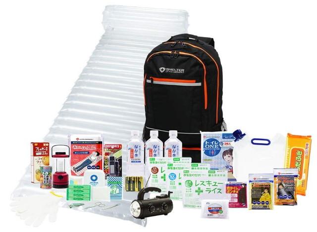 LA・PITA 防災セットSHELTERプレミアム1人用 防災グッズセット 災害対策 非常用持ち出し袋