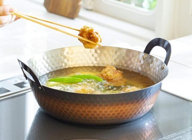 ディノス IHで使える銅の天ぷら鍋