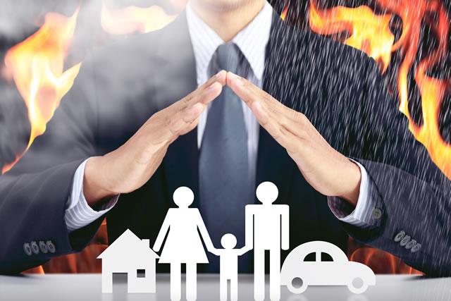 火災保険を連想させる図