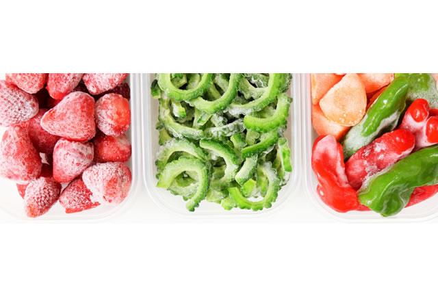 冷凍された野菜