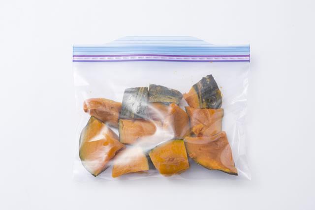保存袋に入ったかぼちゃ