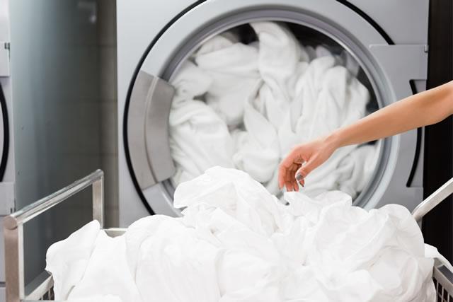 タオルを乾かす乾燥機付き洗濯機