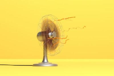 風を出す扇風機
