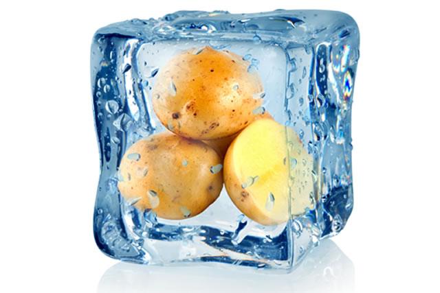 凍ったジャガイモ
