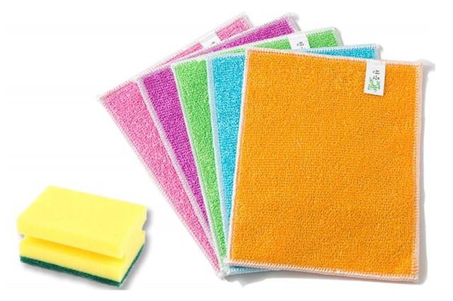 TriSix ふきん 雑巾とスポンジ キッチン