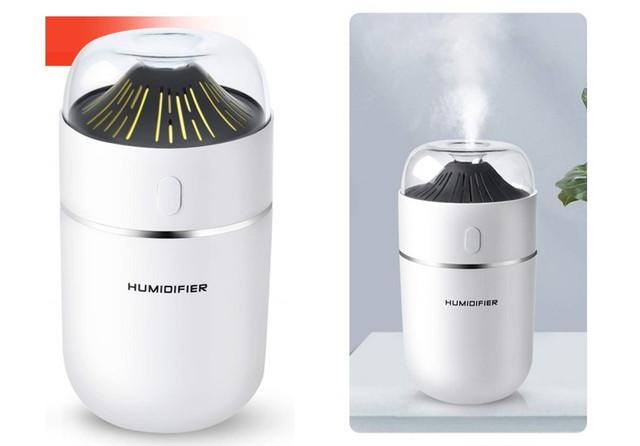 加湿器 卓上 アロマ 超音波加湿器 車用加湿器 超静音 12時間連続加湿 320ml USB給電 七色LEDライト