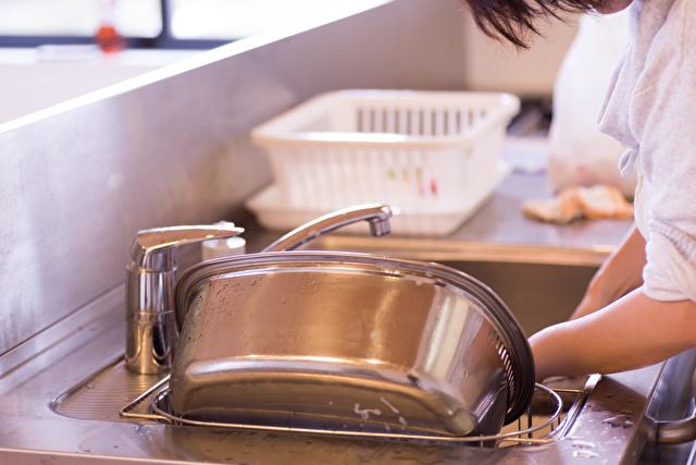シンクの中の洗い桶