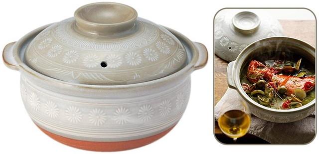 銀峯陶器「萬古焼」土鍋