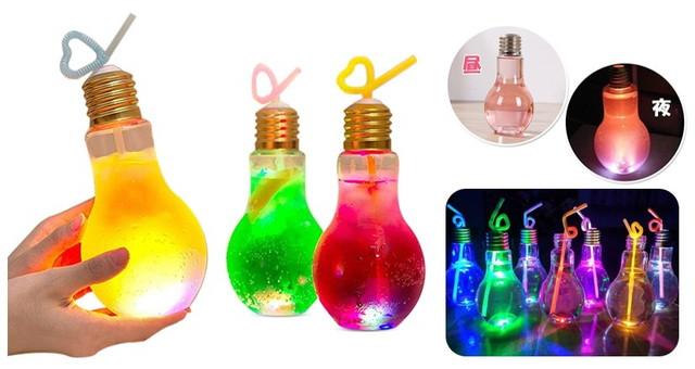 電球ソーダ 光る電球ボトル
