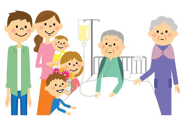 入院中の高齢者