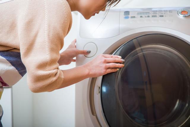 キッチンマットと洗濯機