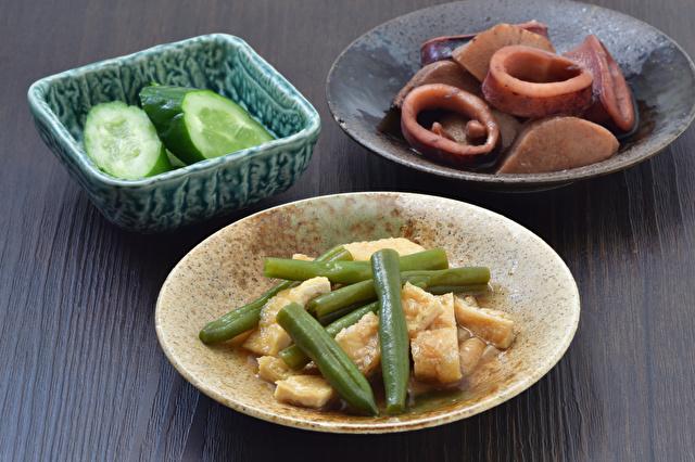 インゲン豆と油揚げの煮物