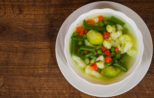 インゲンとキャベツのスープ
