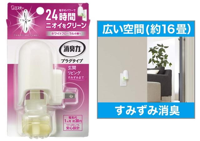 消臭力 プラグタイプ 消臭芳香剤 本体 ホワイトフローラルの香り 20mL