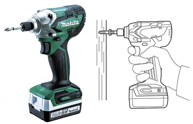 マキタ インパクトドライバMTD001(ライト型14.4Vバッテリ使用) 1.5Ahバッテリ2本・充電器付ケース付 MTD001DSX