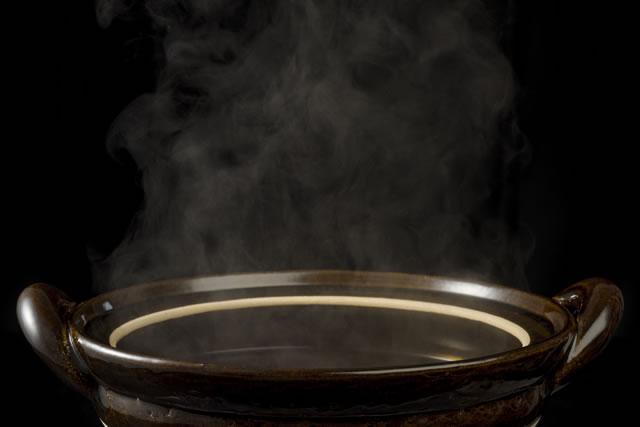 沸騰した土鍋