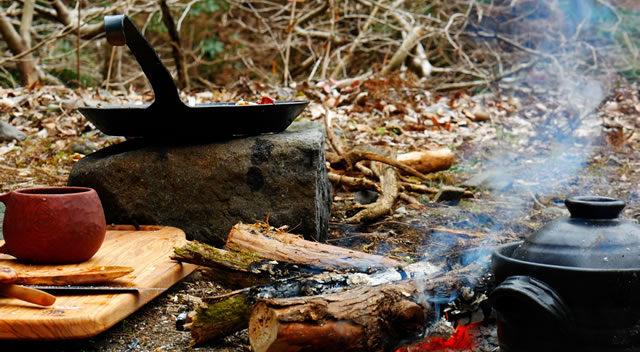 キャンプ飯のスタンバイ