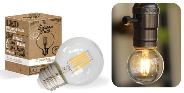 エジソン型 スパークリングバルブ LED電球