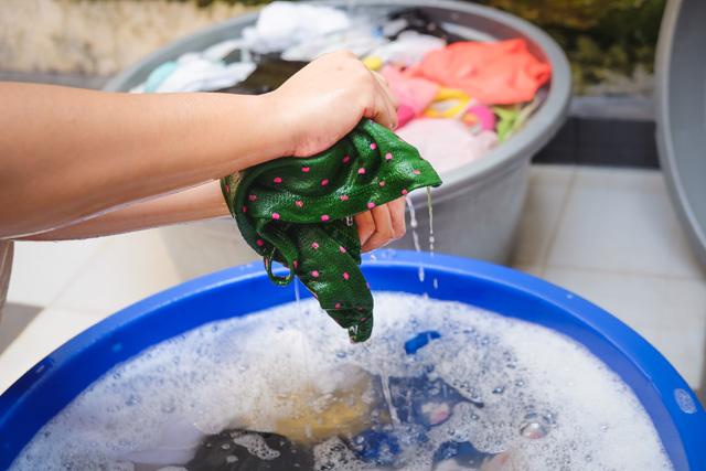 衣類の手洗い