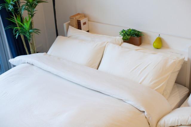 南向きに置かれた枕