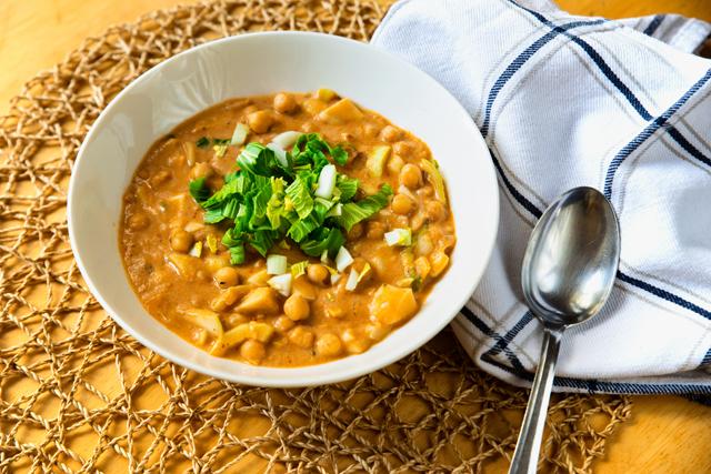 ひよこ豆を使ったスープ