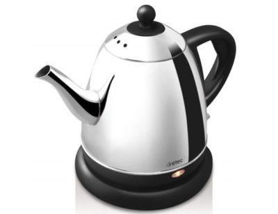 dretec(ドリテック) 電気ケトル ステンレス コーヒー ドリップ ポット 細口 湯沸かし 0.8L PO-115BKDI (ブラック)