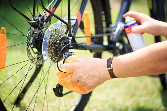 自転車のチェーン掃除
