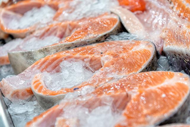 冷凍してある鮭