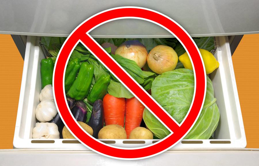 野菜室に入れてはいけない野菜