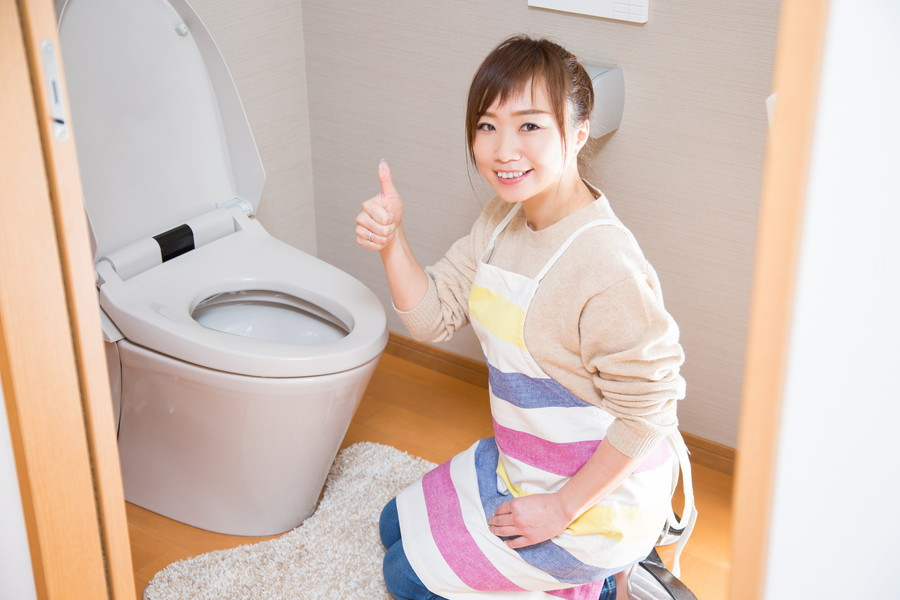 トイレはちゃんと掃除しよう