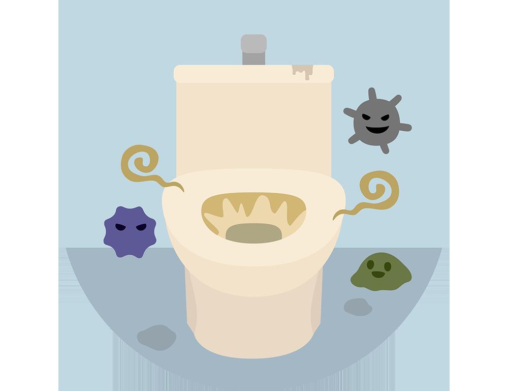 トイレが黄ばんでしまう