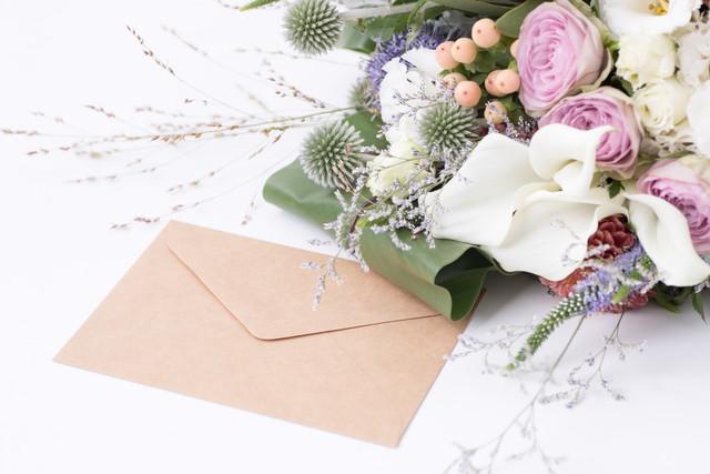 手紙と花束