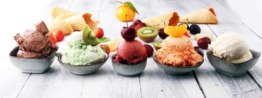アイスの種類は3種類
