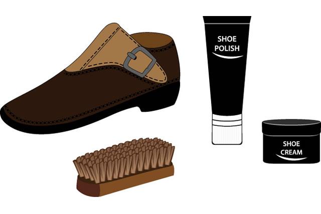 ブーツとお手入れ道具