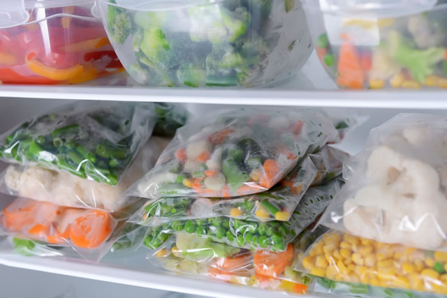 冷凍保存した野菜