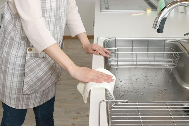キッチンの拭き掃除