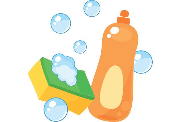 洗剤とスポンジ