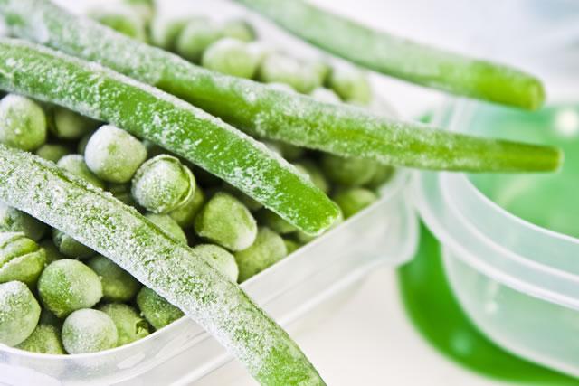 冷凍保存したインゲン