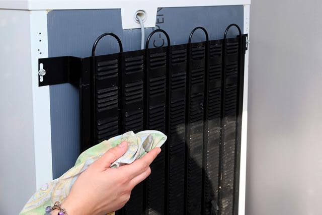 dépoussiérage du réfrigérateur