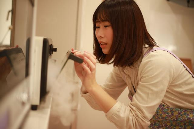 電子レンジから煙