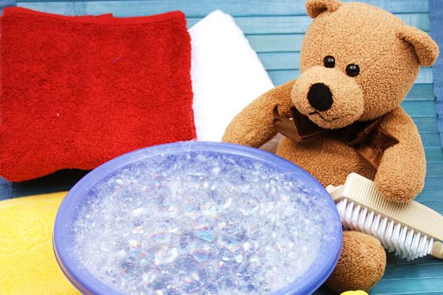 ぬいぐるみの手洗いイメージ