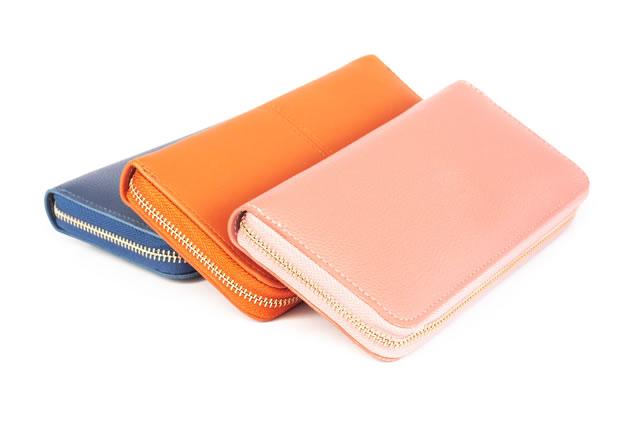 三色の財布