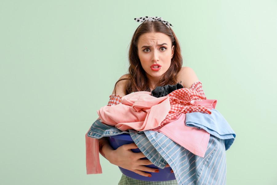 洗濯物のため込みすぎ