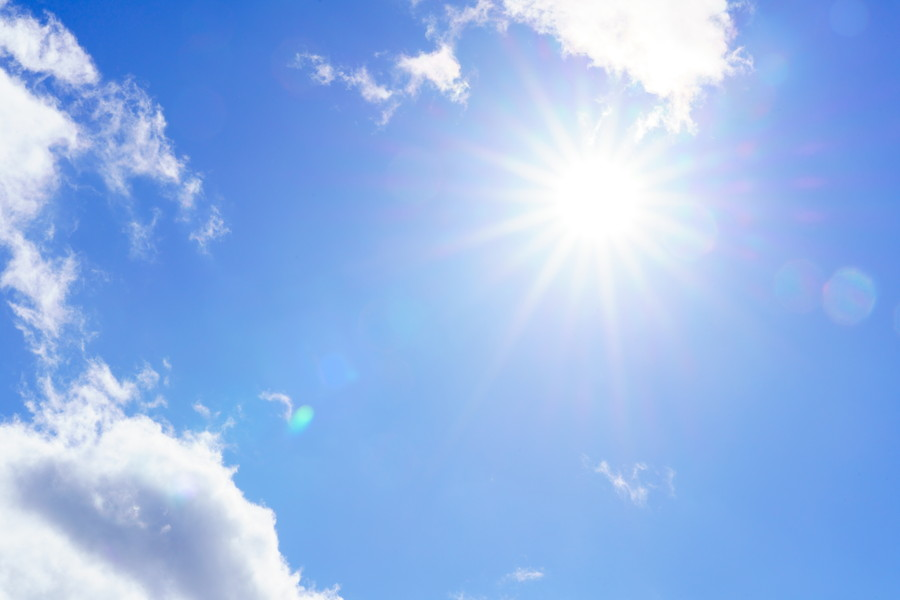直射日光はNG