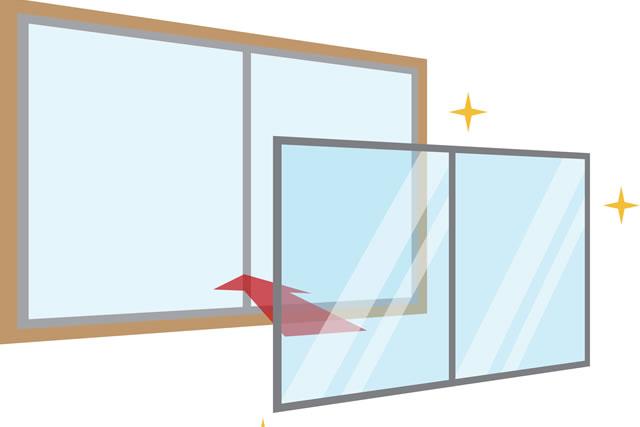 窓の取り付けイラスト